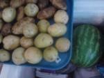 potatoes and watermelon